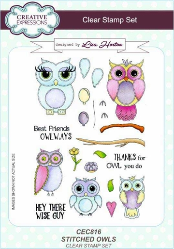 Creative Expressions - Clear stamp - Stitched Owl